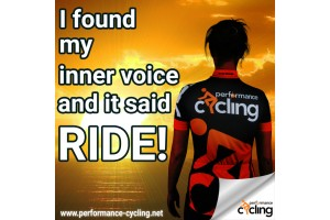 I found my inner voice and it said RIDE!
