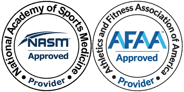 Accredited by NASM and AFAA