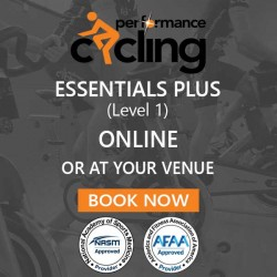 1 Day Studio Cycling Training - Performance Cycling Essentials Plus (Level 1) LIVE